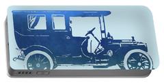 1909 Packard Limousine Blue Pop Portable Battery Charger