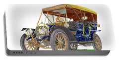 Portable Battery Charger featuring the painting 1910 Knox Model R 5 Passenger  Touring Automobile by Jack Pumphrey