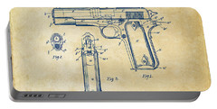 1911 Colt 45 Browning Firearm Patent Artwork Vintage Portable Battery Charger