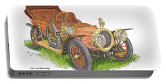 Portable Battery Charger featuring the painting 1911 Delaunay Belleville Open Tourer by Jack Pumphrey