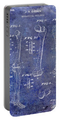 1911 Mechanical Skeleton Patent 1 Blue Portable Battery Charger