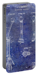 1911 Mechanical Skeleton Patent Blue Portable Battery Charger