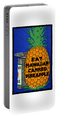 1915 Eat Hawaiian Pineapple Poster Portable Battery Charger