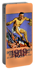 1919 Allied Games Poster Portable Battery Charger by Historic Image