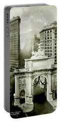 1919 Flatiron Building With The Victory Arch Portable Battery Charger by Jon Neidert