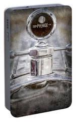 Portable Battery Charger featuring the photograph 1920 Pierce-arrow Model 48 Coupe Hood Ornament -2829ac by Jill Reger