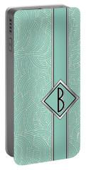 1920s Blue Deco Jazz Swing Monogram ...letter B Portable Battery Charger