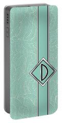 1920s Blue Deco Jazz Swing Monogram ...letter D Portable Battery Charger