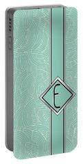 1920s Blue Deco Jazz Swing Monogram ...letter E Portable Battery Charger