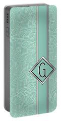 1920s Blue Deco Jazz Swing Monogram ...letter G Portable Battery Charger