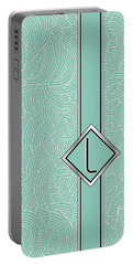 1920s Blue Deco Jazz Swing Monogram ...letter L Portable Battery Charger