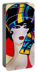 1920's Girl Anna Portable Battery Charger by Nora Shepley