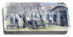 1922 Zbraslav Jiloviste Bugatti T13 Brescia Joan Halmovici Winner  Portable Battery Charger