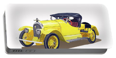 Portable Battery Charger featuring the painting 1923 Kissel Kar  Gold Bug Speedster by Jack Pumphrey