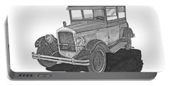 1925 Jewett 2 Door Touring Sedan Portable Battery Charger by Jack Pumphrey
