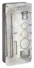 1926 Baseball Bat Patent Portable Battery Charger