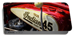 1928 Indian Scout Gas Tank Portable Battery Charger by Mike Martin