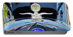 Portable Battery Charger featuring the photograph 1929 Ford Model A Hood Ornament  by Rich Franco