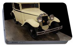 Portable Battery Charger featuring the digital art 1930 American Austin 5 Window Coupe by Chris Flees