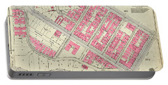 1930 Inwood Map  Portable Battery Charger by Cole Thompson