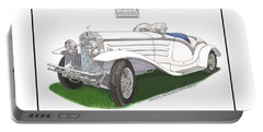 1930 Isotta Fraschini 8a Flying Star Roadster Portable Battery Charger by Jack Pumphrey