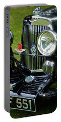 1930s Aston Martin Front Grille Detail Portable Battery Charger by John Colley