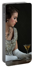 1930s Woman With A Cocktail Glass Portable Battery Charger