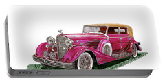 Portable Battery Charger featuring the painting 1932 Cadillac All Weather Phaeton V 16 by Jack Pumphrey