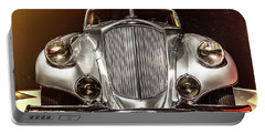 1933 Pierce-arrow Silver Arrow Front View Portable Battery Charger