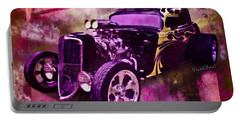 1934 Ford Coupe Hot Rod Acrylic Illustration Portable Battery Charger
