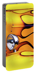Portable Battery Charger featuring the photograph 1934 Ford Custom Yellow Hot Rod by Baggieoldboy