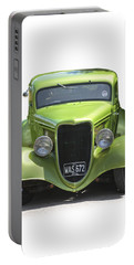 1934 Ford Street Hot Rod On A Transparent Background Portable Battery Charger