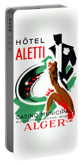 1935 Hotel Aletti Casino Algeria Portable Battery Charger by Historic Image