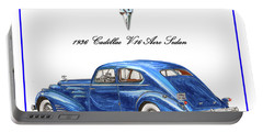 Portable Battery Charger featuring the painting 1936 Cadillac V-16 Aero Coupe by Jack Pumphrey