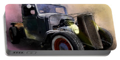 1936 Chevy Rat Rod Pickup Watercolour Portable Battery Charger
