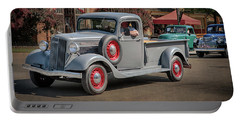 Portable Battery Charger featuring the photograph 1936 Gmc T-14 Pickup  by Susan Rissi Tregoning