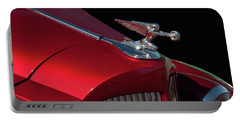 Portable Battery Charger featuring the photograph 1936 Packard Flying Lady Hood Ornamant by Chris Flees