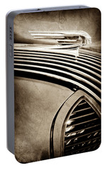 Portable Battery Charger featuring the photograph 1936 Pontiac Hood Ornament -1140s by Jill Reger