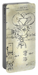 1937 Movie Camera Patent Portable Battery Charger