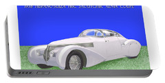 1938 Hispano Suiza H6c Saoutchik Xenia Coupe Portable Battery Charger by Jack Pumphrey