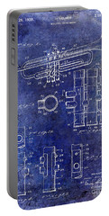 1939 Trumpet Patent Blue Portable Battery Charger by Jon Neidert