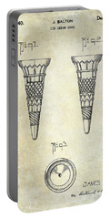 1940 Ice Cream Cone Patent Portable Battery Charger