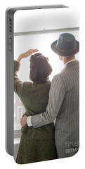 1940s Couple At The Window Portable Battery Charger by Lee Avison