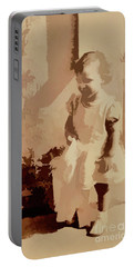 Portable Battery Charger featuring the photograph 1940s Little Girl by Linda Phelps