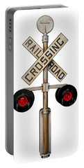 1940's Rail Road Crossing Signal Knockout Portable Battery Charger