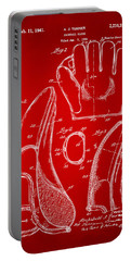 1941 Baseball Glove Patent - Red Portable Battery Charger