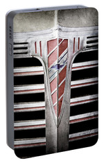 Portable Battery Charger featuring the photograph 1941 Chevrolet Grille Emblem -0288ac by Jill Reger
