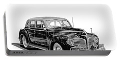Portable Battery Charger featuring the painting 1941 Dodge Town Sedan by Jack Pumphrey