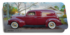 1941 Ford Deluxe Panel Truck C139 Portable Battery Charger by Rich Franco