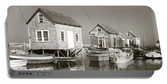 1941 Lobster Shacks, Martha's Vineyard Portable Battery Charger by Historic Image